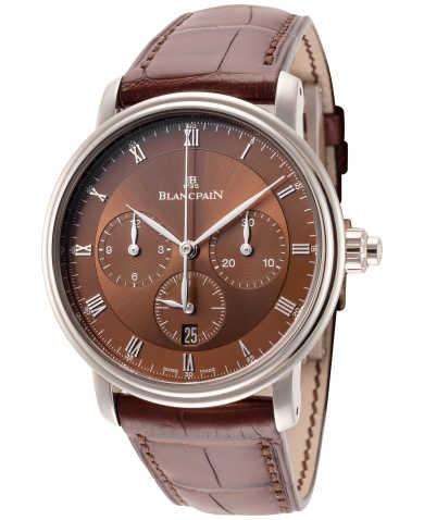 Blancpain Villeret Single Pusher Chronograph Men's Watch 6185-1546-55B