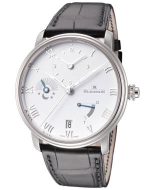 Blancpain Villeret Half Time Zone Men's Automatic Watch 6660-1127-55B