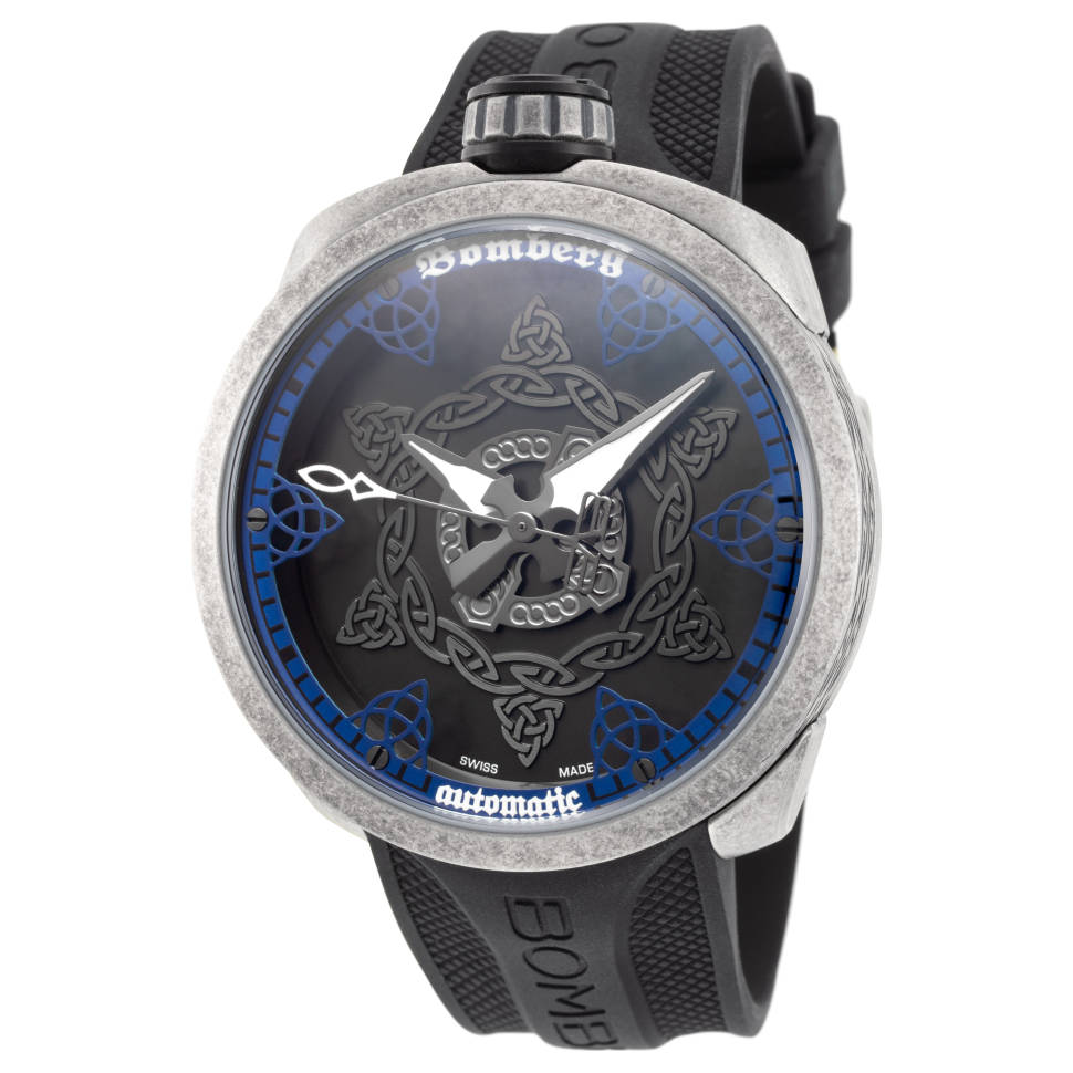 Bomberg Men's Bolt-68 45mm Swiss Automatic Blue Dial Watch