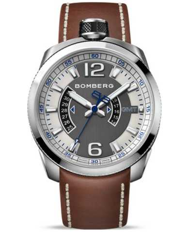 Bomberg Men's Quartz Watch BS45GMTSS-001-3