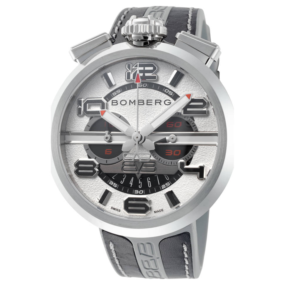 Bomberg 1968 45mm Chronograph Women's Quartz Watch (Black/White )