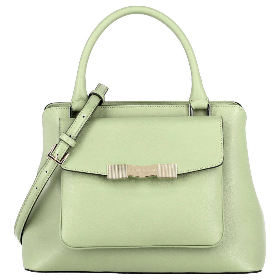 Bruno Magli Mint Pebble Leather Women's Satchel Bag (Green)