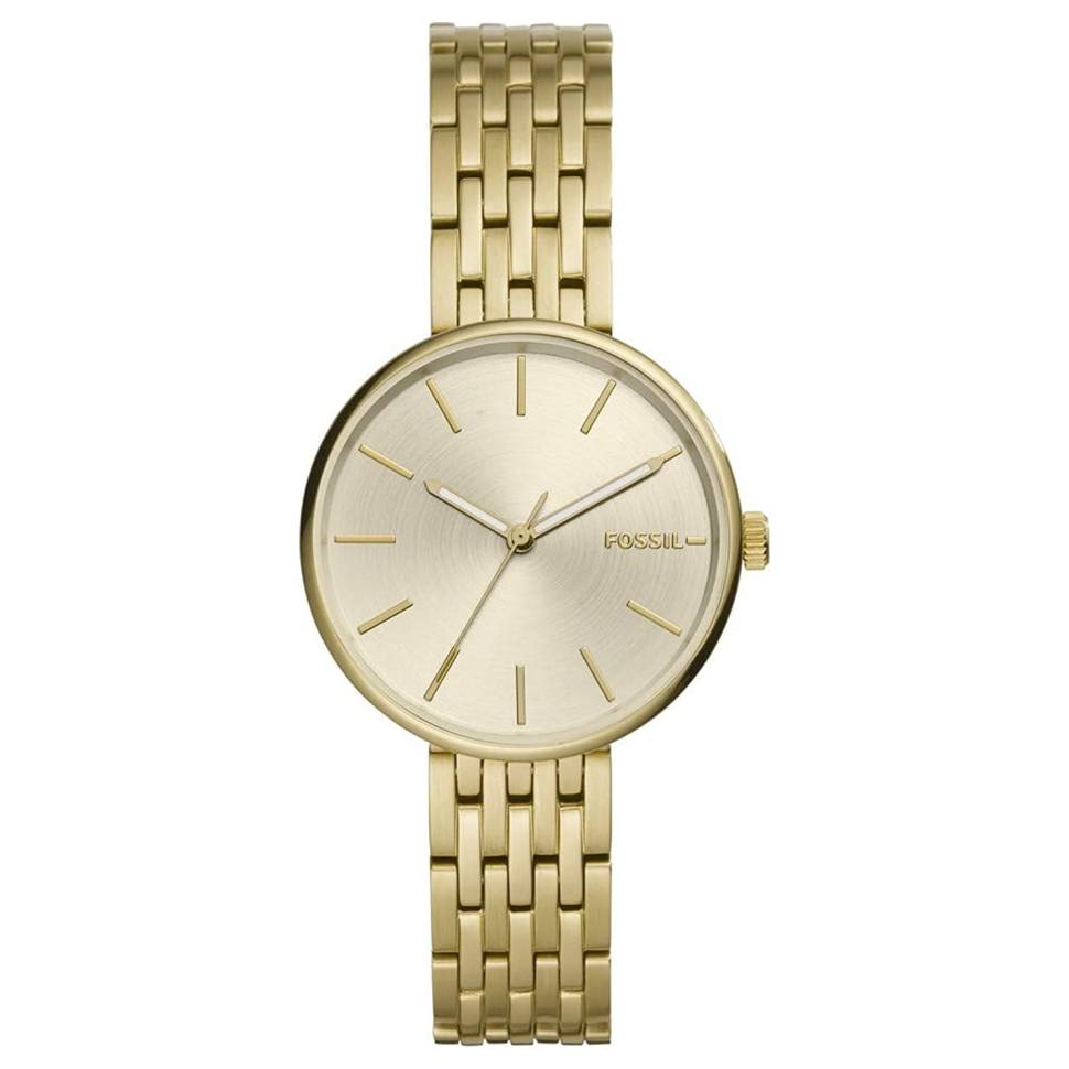 Fossil Hutton 34mm Gold Dial Stainless Steel Women's Watch