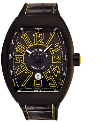 Franck Muller Men's Watch 45SCBLKBLKYEL