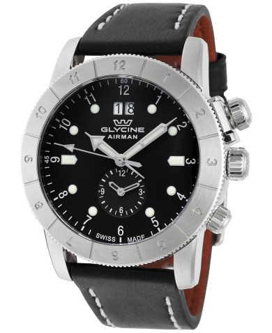 글라이신 남성 손목 시계 Glycine Airman Quartz GMT Mens Casual Watch GL0150