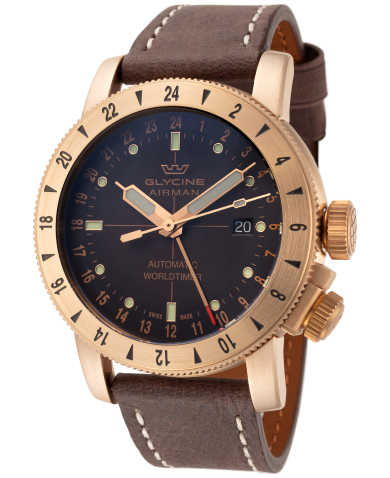 Glycine Airman 44 Bronze GMT Men's Automatic Watch GL0166