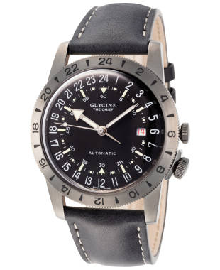 "Glycine Airman Vintage ""The Chief"" GMT Men's Automatic Watch GL0246"