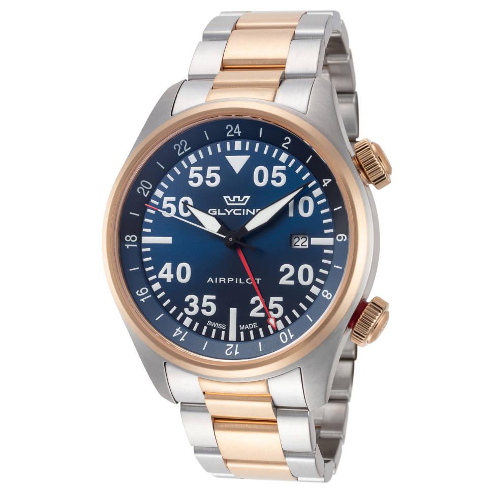 Glycine Airpilot GMT 44mm Blue Dial Men's Watch