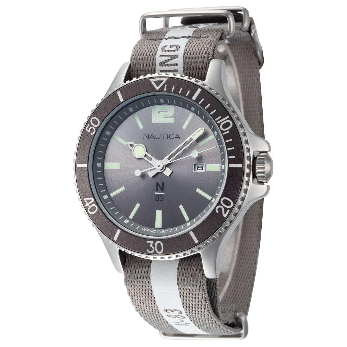 Nautica Cocoa Beach N83 43mm Nylon Strap Men's Watch