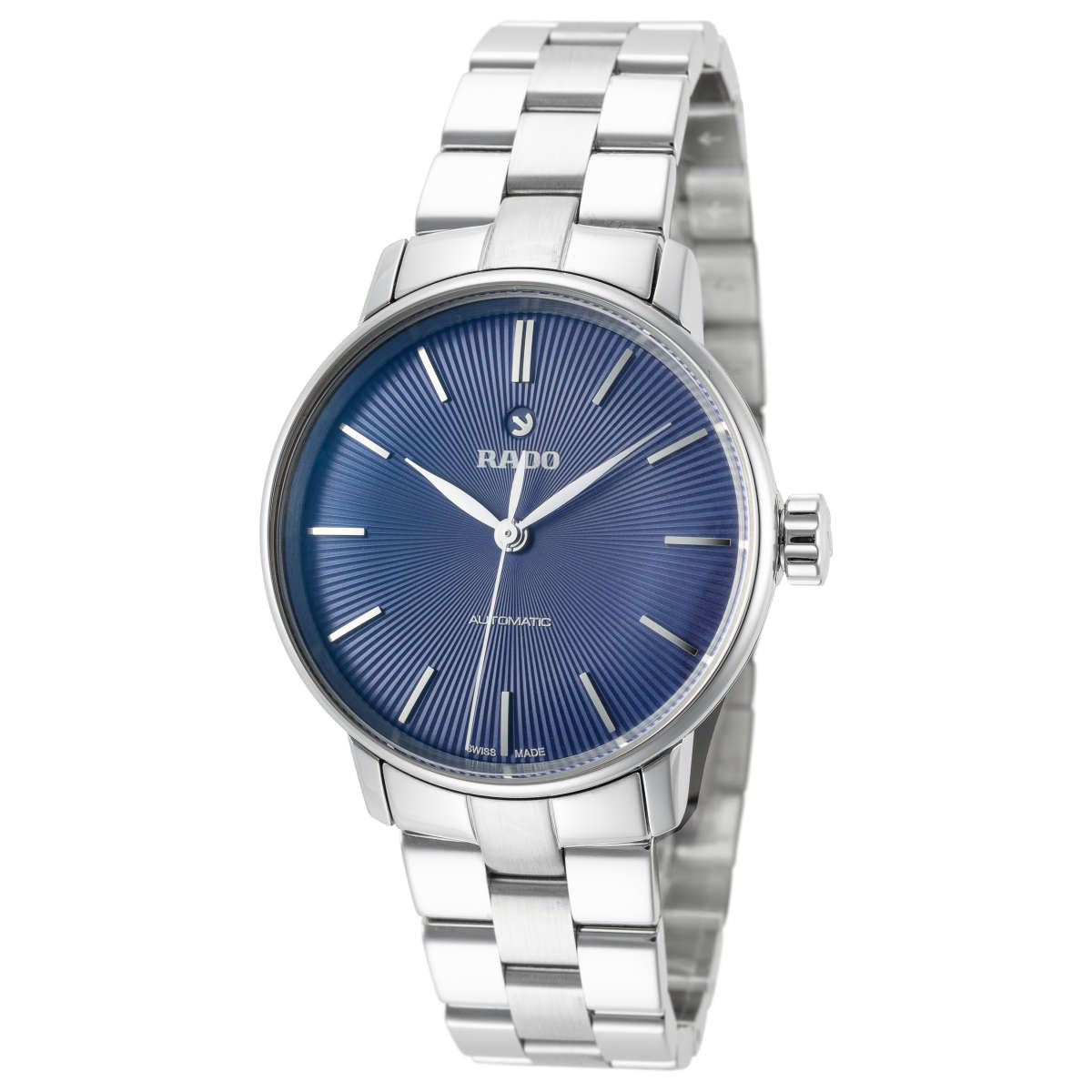 Rado Coupole Classic S Blue Dial Stainless Steel Automatic Women's Watch