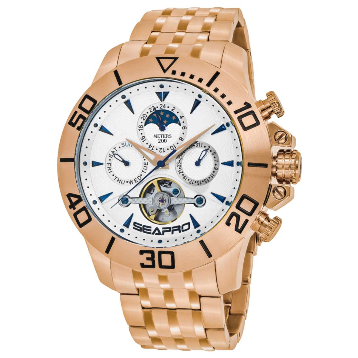 Seapro Montecillo Stainless Steel Men's Bracelet Watch