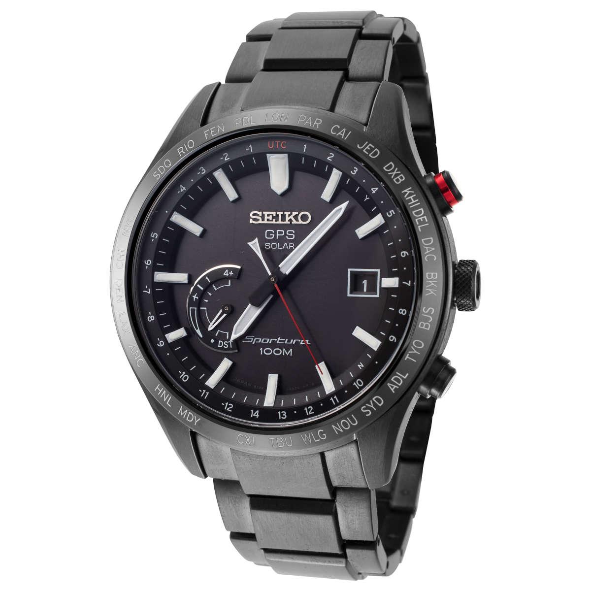 Seiko Sportura Quartz Stainless Steel Men's Bracelet Watch