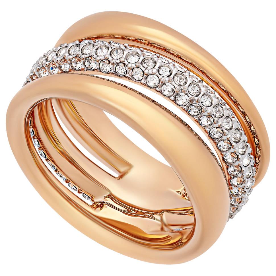 Swarovski Exact 18K Rose Gold-Plated Ring