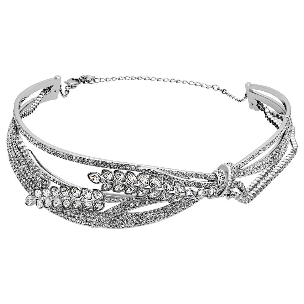 Swarovski Lucia Rhodium-plated Clear Crystal Choker Necklace