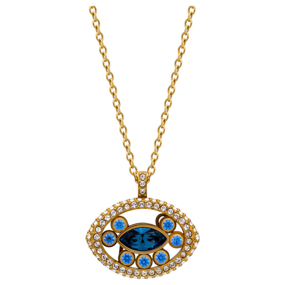 Swarovski Admiration Goldtone and Crystal Eye Pendant Necklace