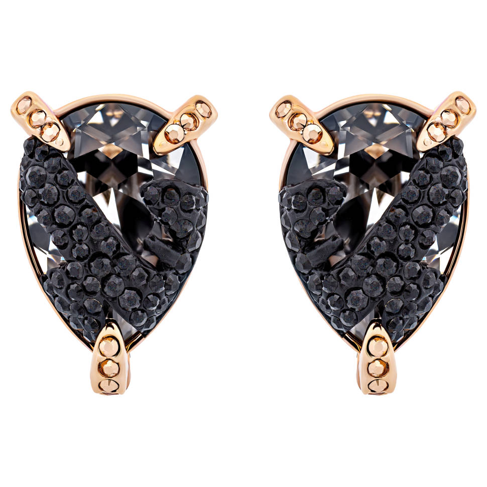 Swarovski Make Up 18K Rose Gold-Plated Crystal Earrings