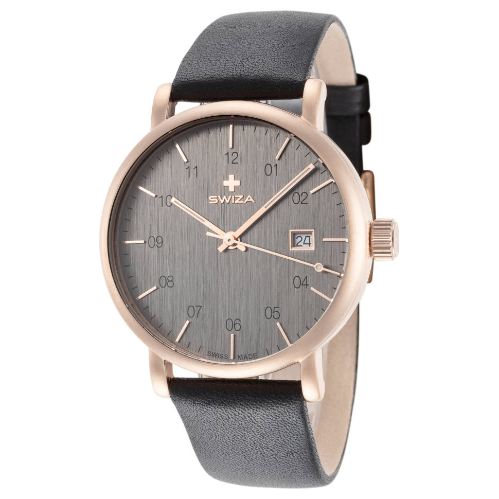 Swiza Alza Rose Gold PVD Coated Quartz Men's Watch
