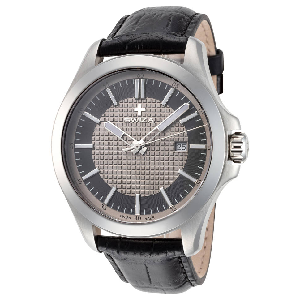 Swiza Urbanus 44mm Stainless Steel Men's Quartz Watch