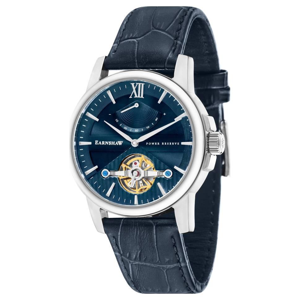 Thomas Earnshaw Flinders 42mm Blue Dial Leather Men's Watch